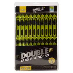Preston 10 x 13 cm Yellow Double Slider Winders
