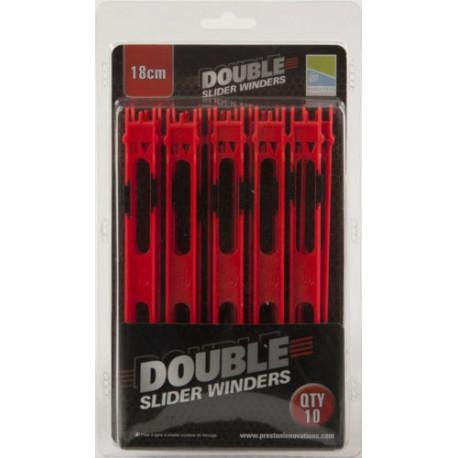 Preston 10 x 18 cm Red Double Slider Winders
