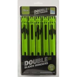 Preston 10 x 20 cm Green Double Slider Winders