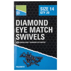 Preston Size 14 Diamond EYE Match Swivels