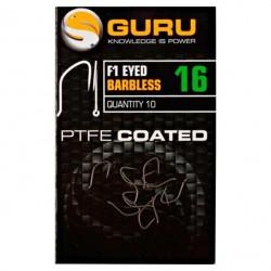 Guru Size 18 F1 Eyed Barbless Hook