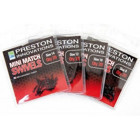 Preston Mini Match Swivels Size 10