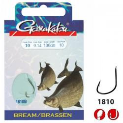 Gamakatsu Bream Feeder LS-1810 0.14 mm – 75 cm - Size: 10 Onderlijnboekje