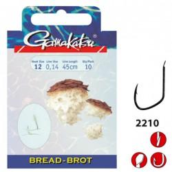 Gamakatsu Bread LS-2210 0.16 mm – 45 cm - Size: 10 Onderlijnboekje