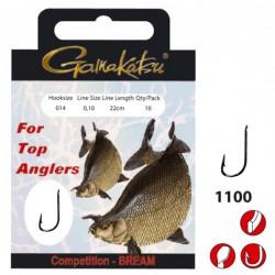 Gamakatsu Competition Bream LS-1100 0.12 mm – 22 cm - Size: 14 Onderlijnboekje