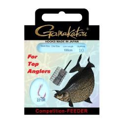Gamakatsu Competition Bream Feeder LS-2210 0.14 mm – 100 cm - Size: 14 Onderlijnboekje