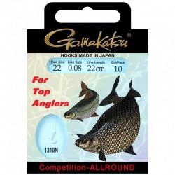 Gamakatsu Competition Allround LS-1310 0.08 mm – 22 cm - Size: 18 Onderlijnboekje