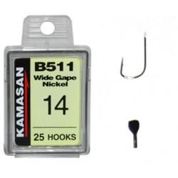 Kamasan B511 Wide Gape Nickel Barbed Size 18