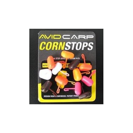 Avid Carp Corn Stops Short Stem Mix Color