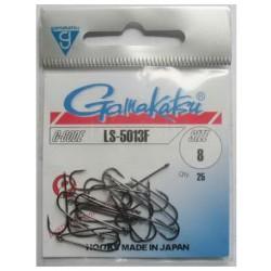 Gamakatsu LS-5013 NS Black Size: 8 Barbed Hook