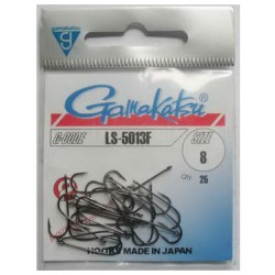 Gamakatsu LS-5013 NS Black Size: 6 Barbed Hook