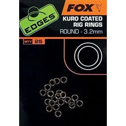 Fox Kuro Coated Rig Rings Round 3.2 mm