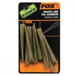 Fox Naked Line Tail Rubbers Trans Khaki
