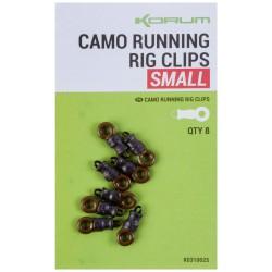 Korum Small Camo Running Rig Clips