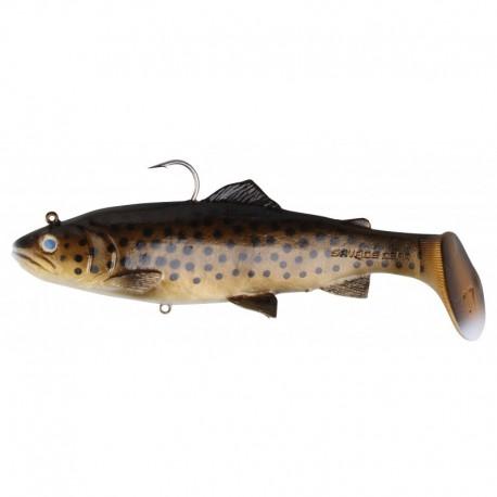 Savagear Dark Brown Trout 3D Trout Rattle Shad 20.5 cm