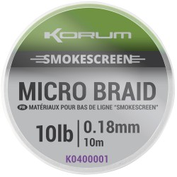 Korum 20 LB - 0.25 mm Smokescreen Micro Braid 10 meter