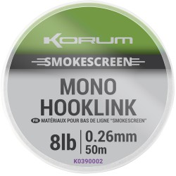 Korum 8 LB - 0.26 mm Smokescreen Mono Hooklink 50 meter