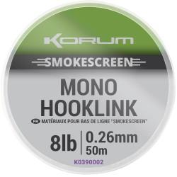 Korum 12 LB - 0.30 mm Smokescreen Mono Hooklink 50 meter