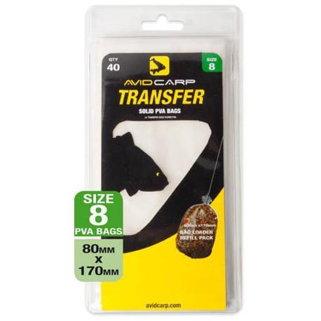 Avid Carp Transfer Solid PVA Bags Size 8