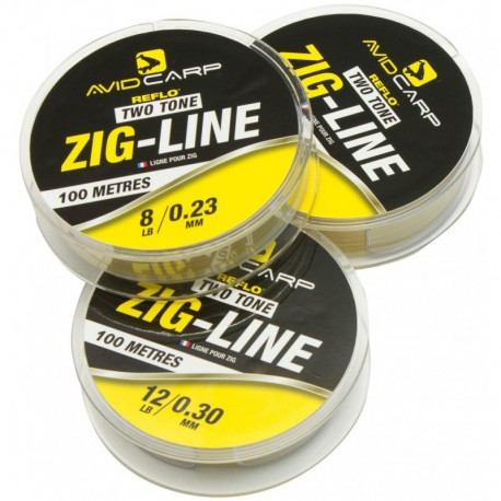 Avid Carp Two Tone Zig Line 8 LB - 0.23MM