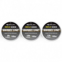 Korum 12 LB - 0.33 mm Barbel Line Reflo Two Tone 100 meter