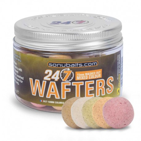 Sonubaits 24/7 Mixed Coulour Wafters 15mm