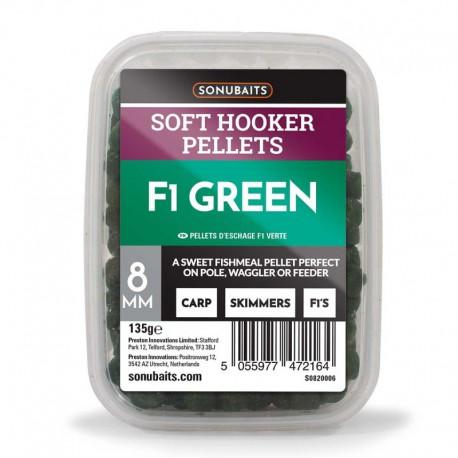 Sonubaits F1 Green Soft Hooker Pellets 8mm