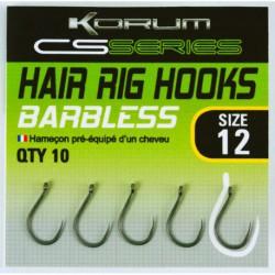 Korum Size 18 CS Series Hair Rig Barbless Haak