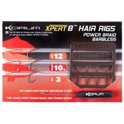 Korum Size 12 Xpert 8'' Braid Hair Rigs Barbless