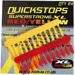 Korum XL Red - Yellow Quickstops