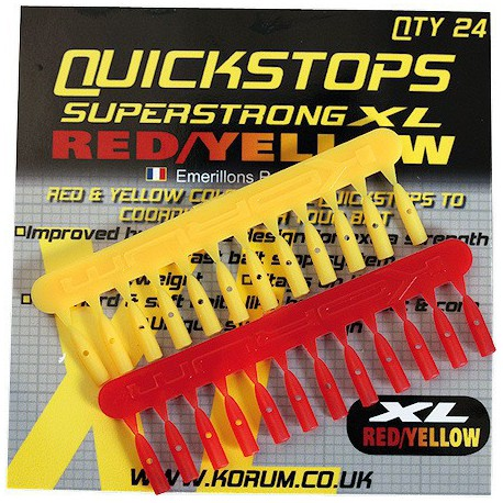 Korum Quickstops XL Red - Yellow