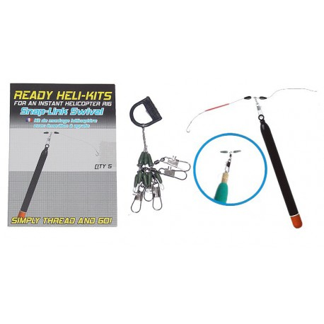 Korum Ready Heli-Kits Snap Link Swivel