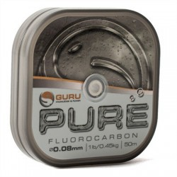 Guru 1 lb - 0.08 mm PURE Fluorocarbon